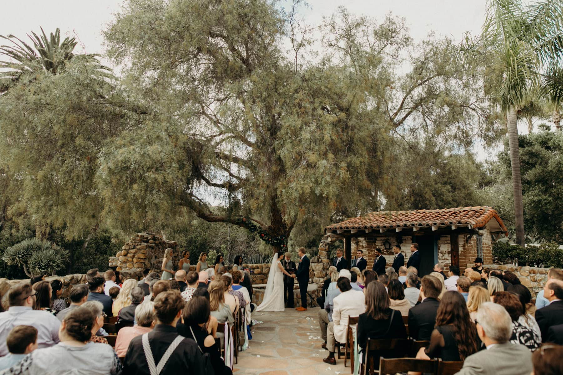 wedding ceremony at leo carrillo ranch