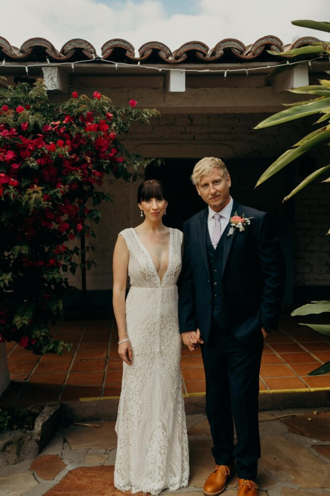 bride and groom at Leo Carrillo Ranch
