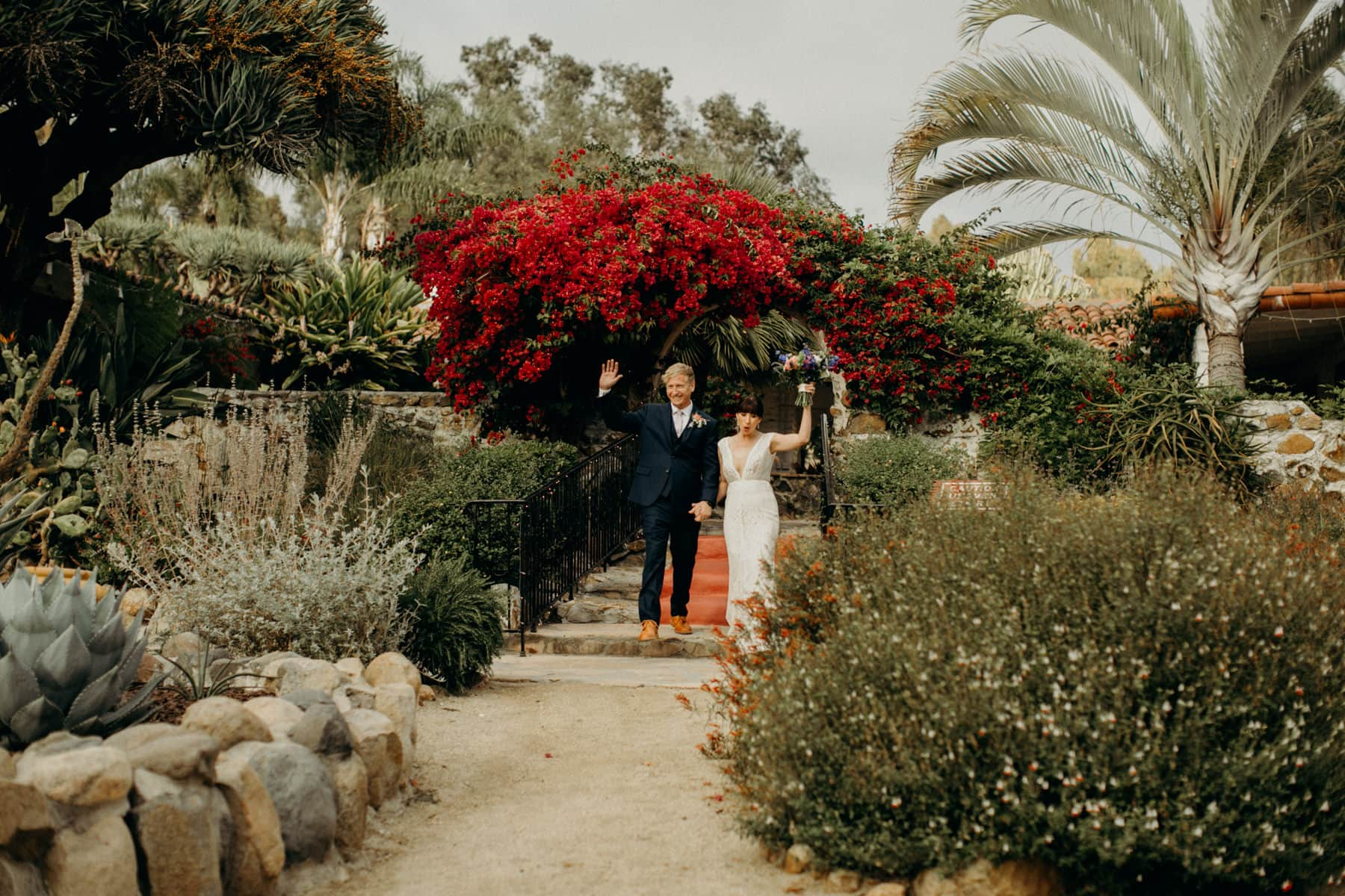 grand entrance at Leo Carrillo Ranch