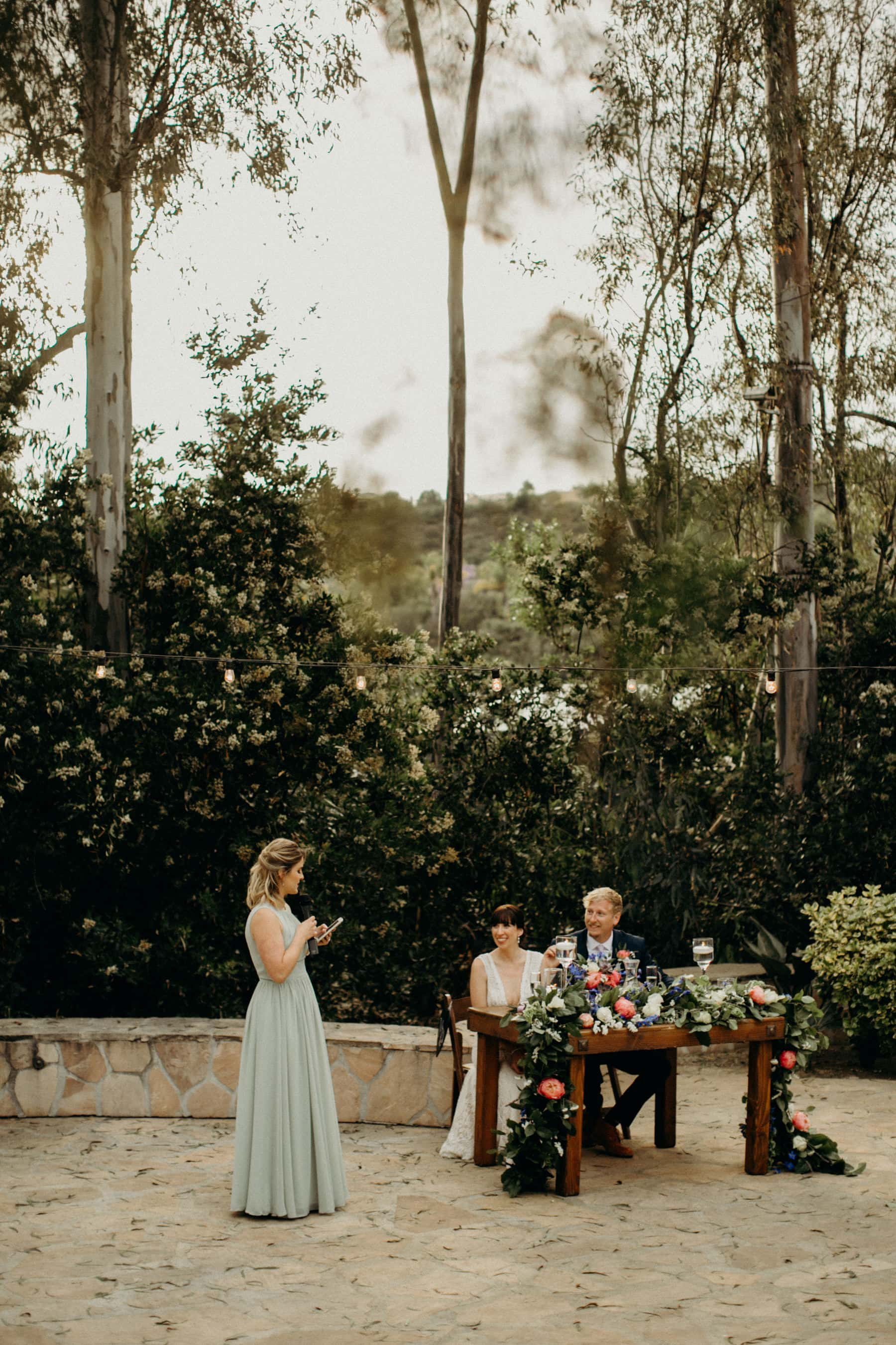 wedding speeches at leo carrillo ranch