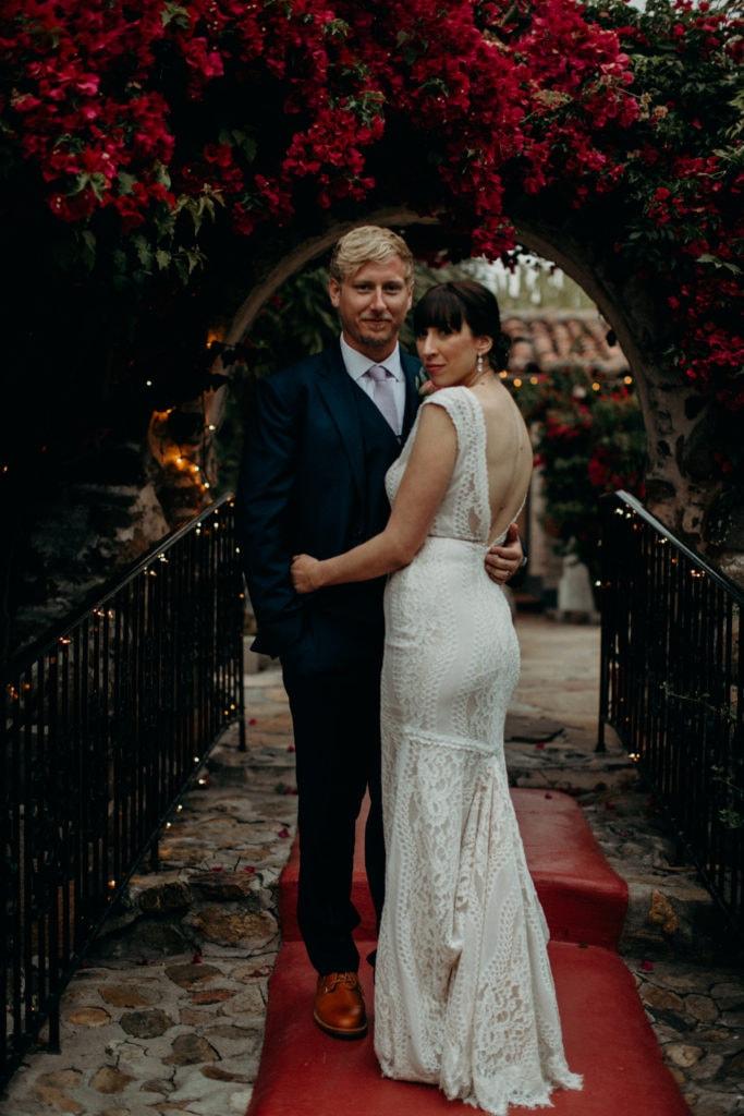 wedding couple portrait at Leo Carrillo Ranch