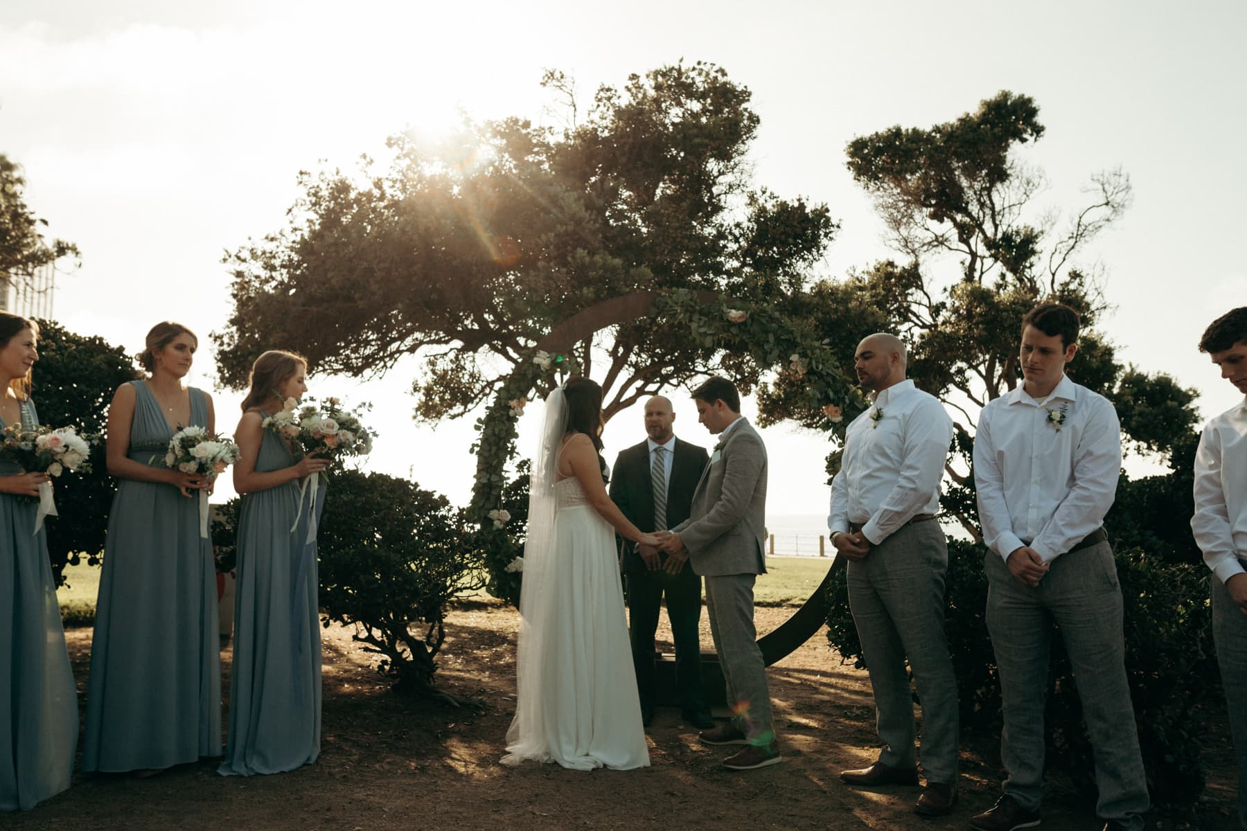 intimate wedding ceremony at ellen browning scripps park
