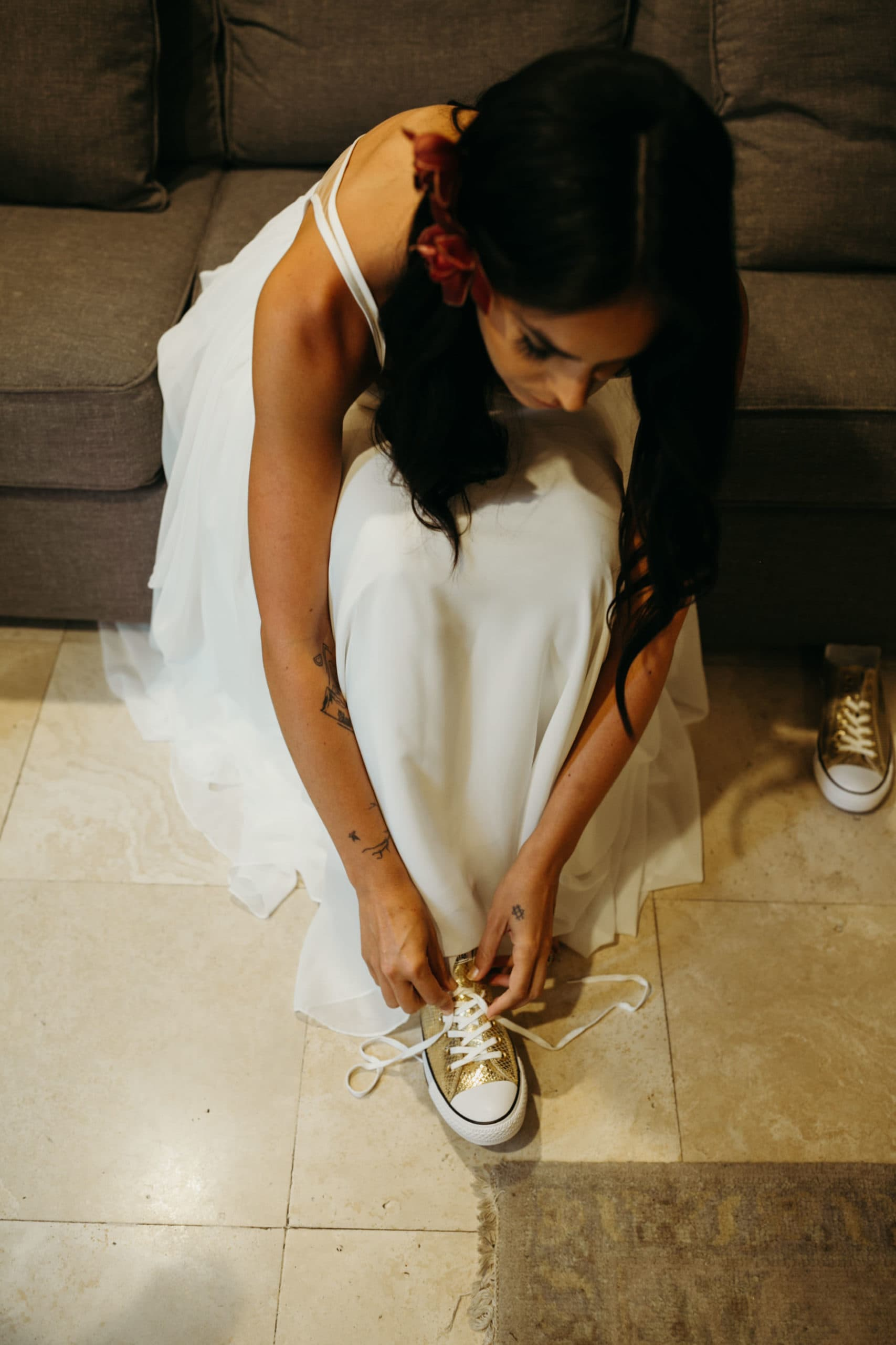 gold converse tennis shoes for wedding