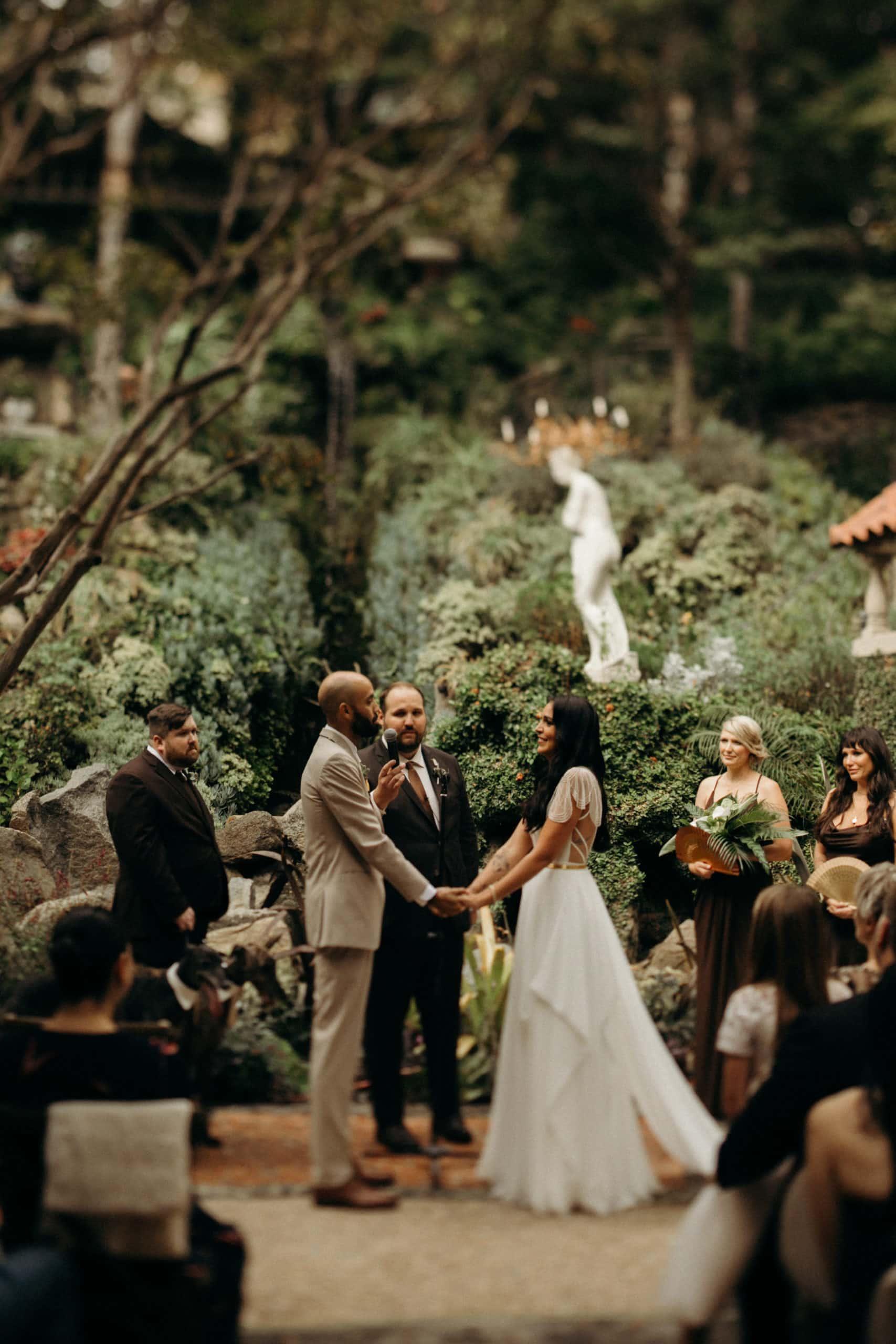 wedding ceremony at houdini estate