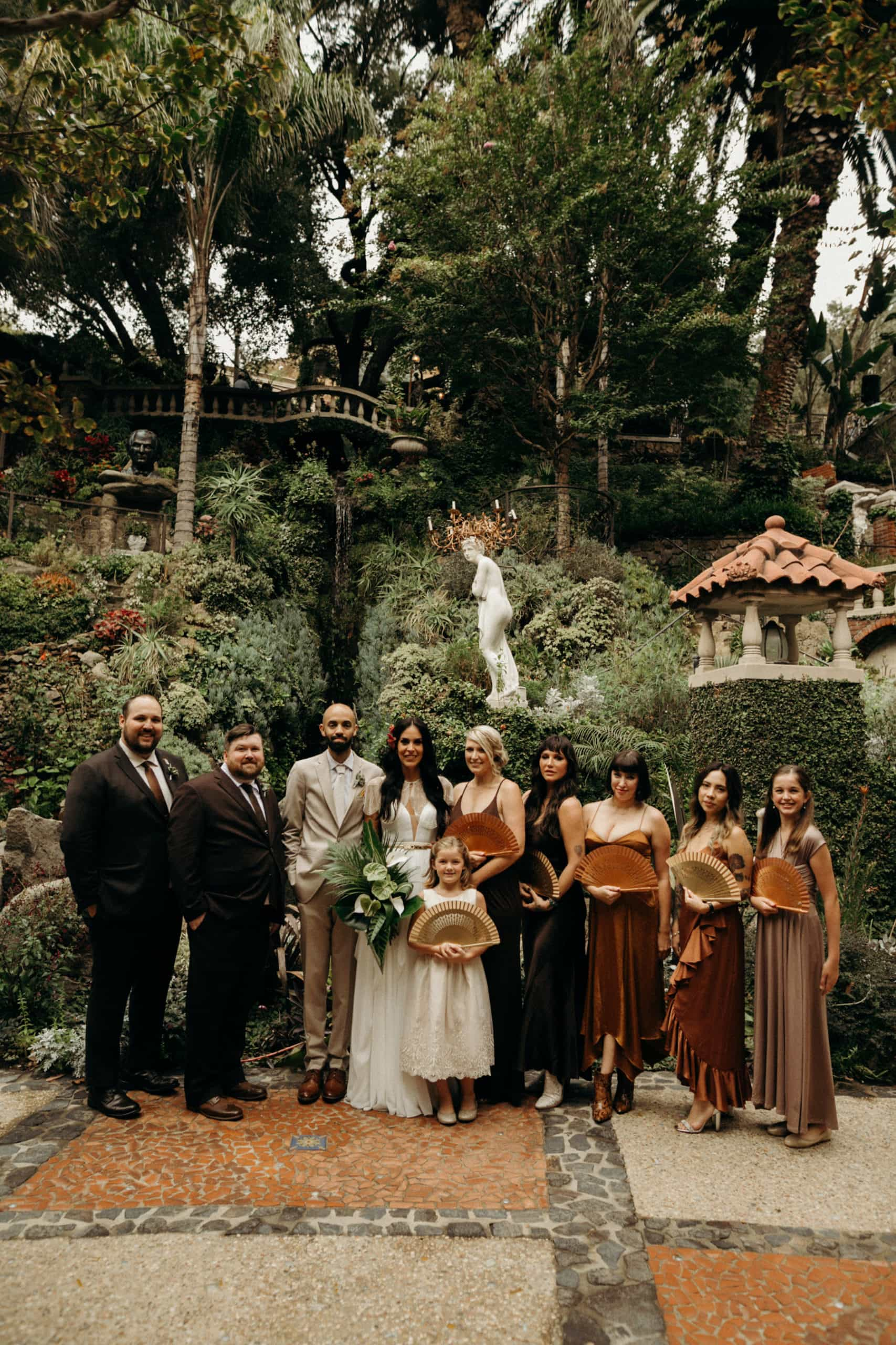 wedding party photos at houdini estate