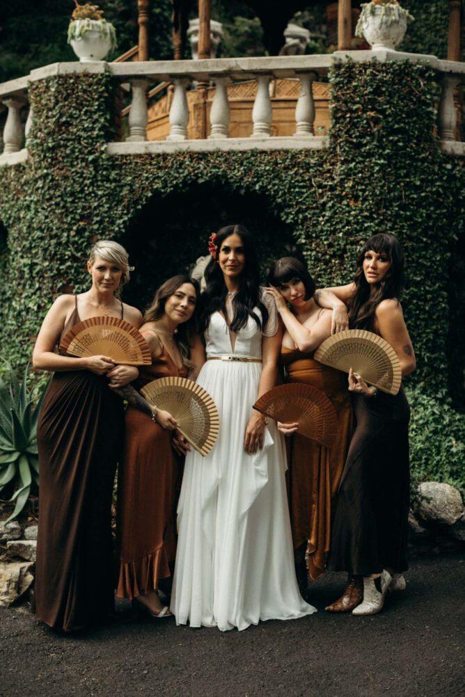 bridesmaids photo at houdini estate