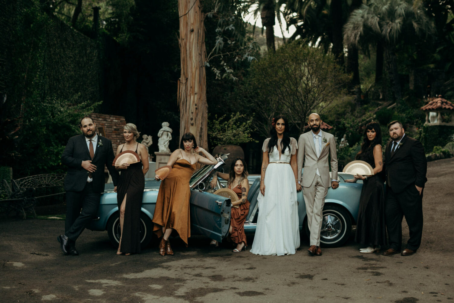 bad ass wedding party photo at houdini estate