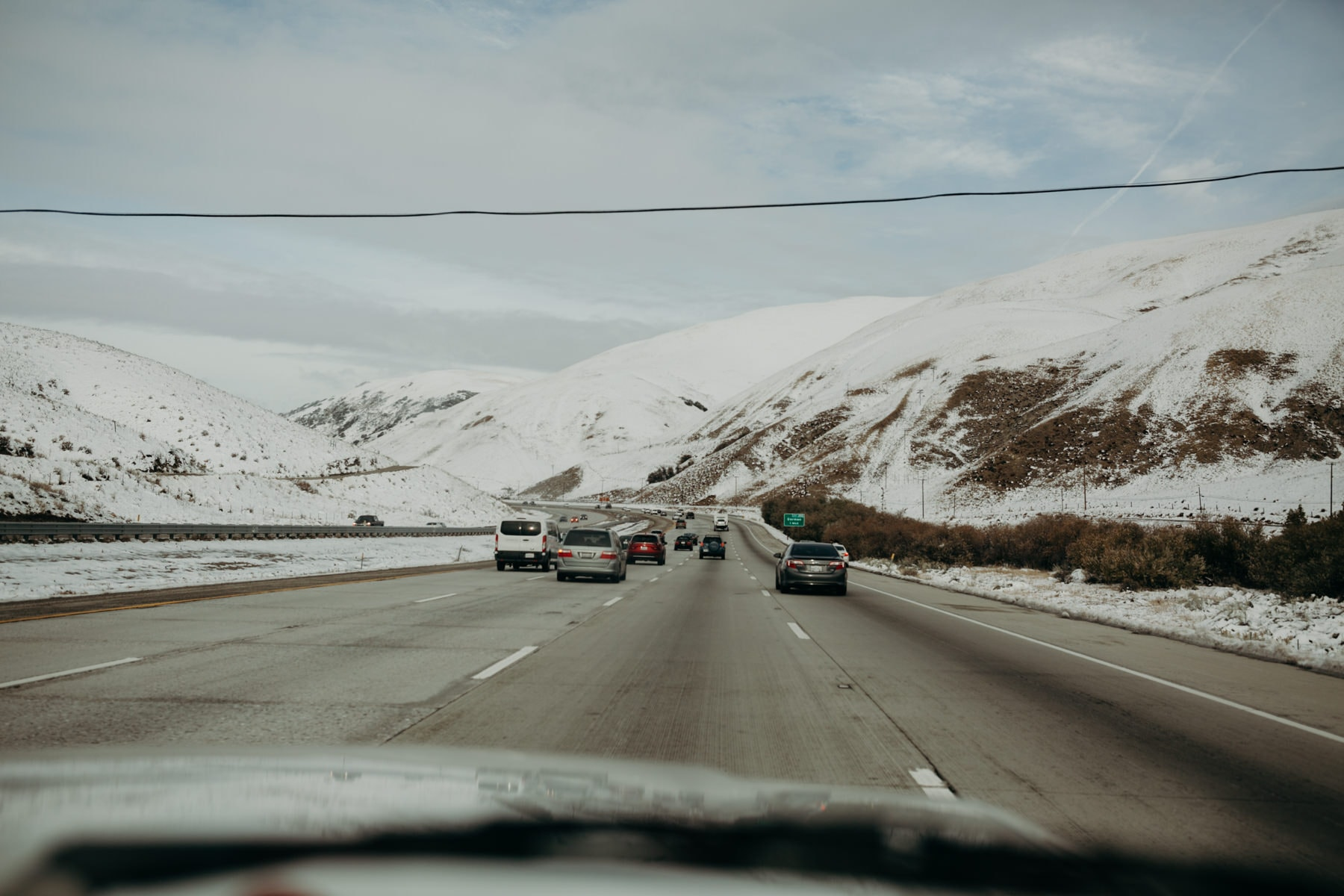 snow at tejon pass