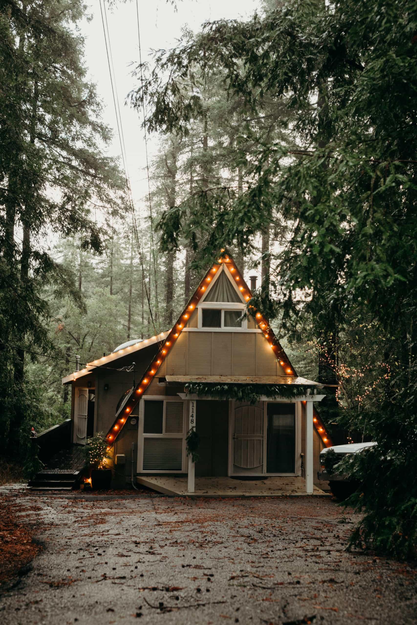 Felton Airbnb A-Frame Cabin