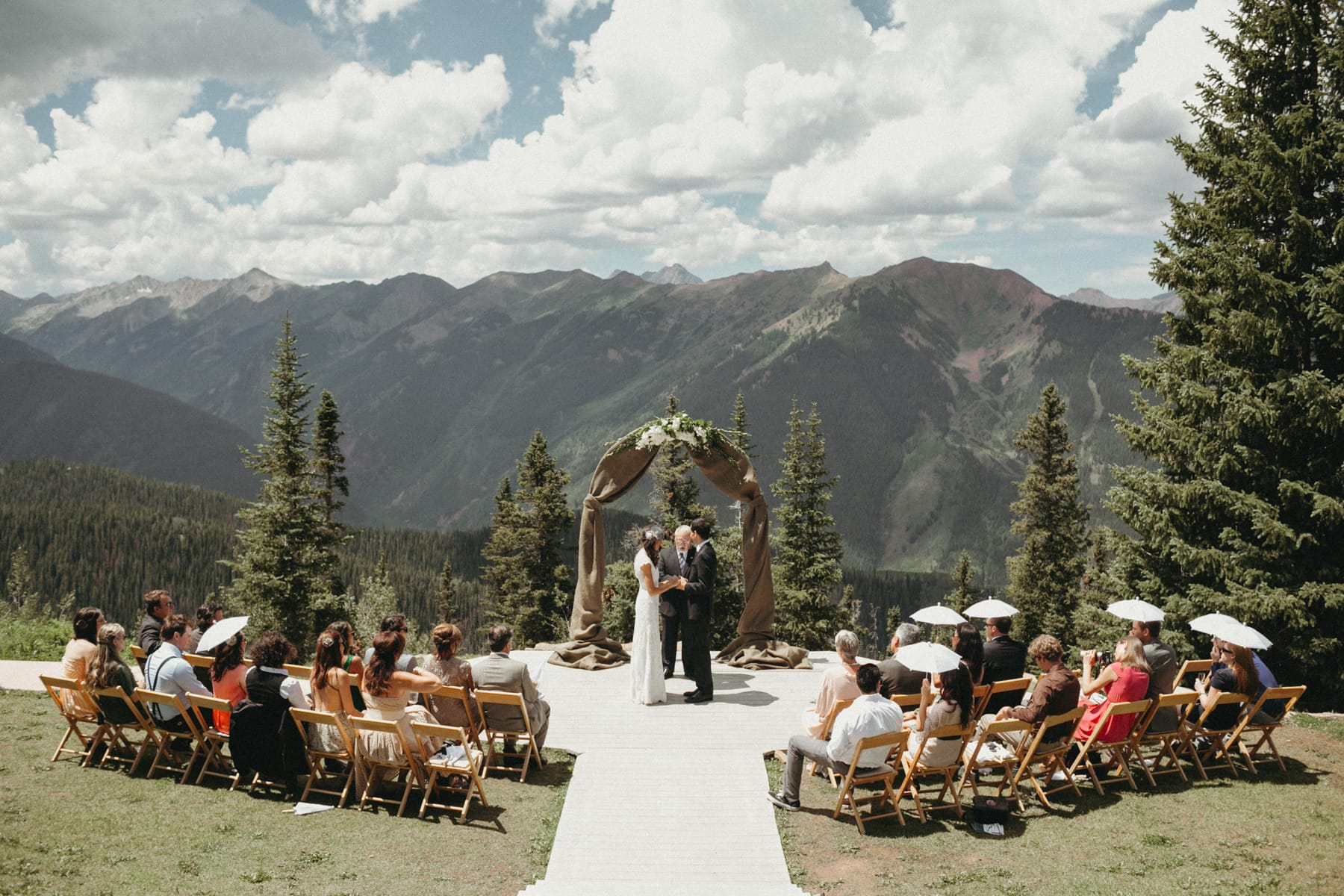 small wedding at the little nell in aspen, colorado