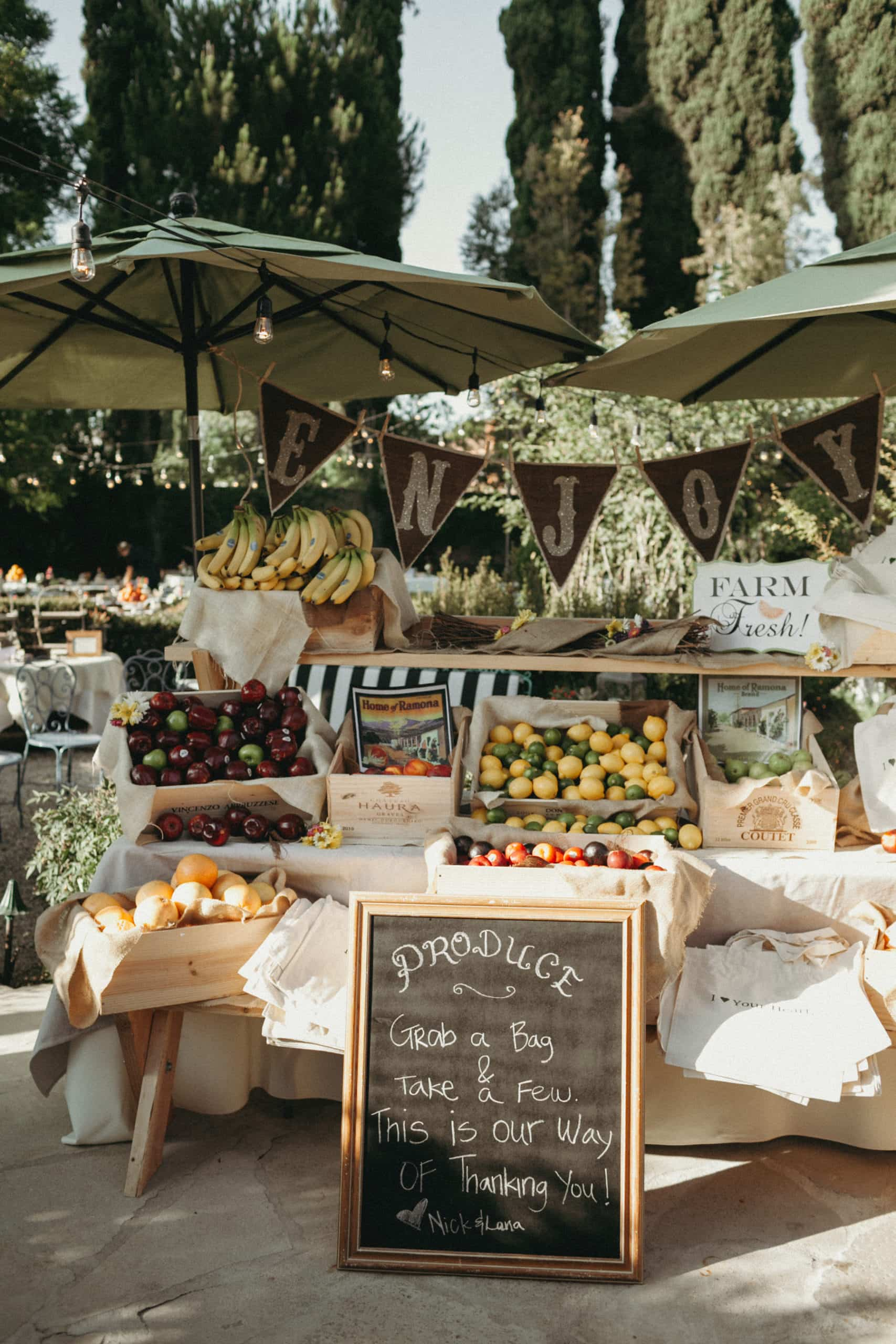 farmer's market wedding favor