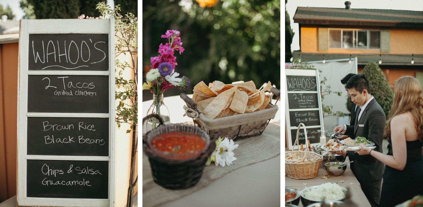 wahoo's catering wedding reception