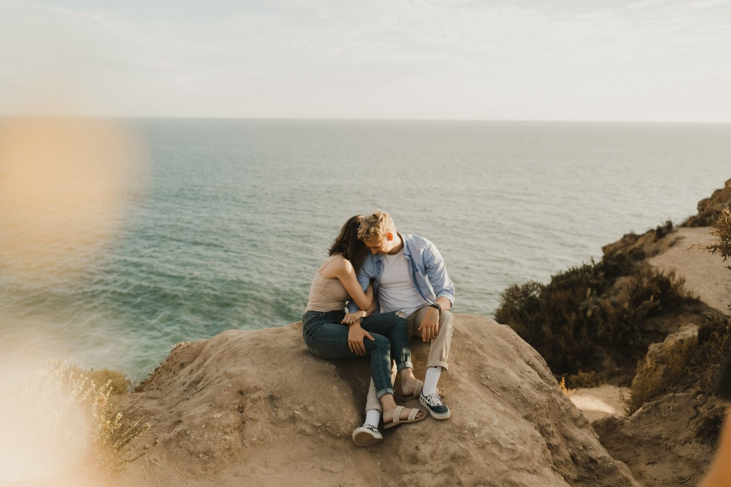point dume state beach engagement session